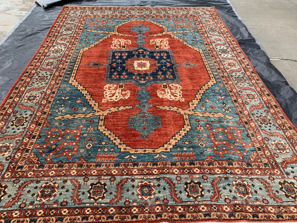 New Hand Knotted Afghanistan Reproduction Of 19th Century Bakhshayish
