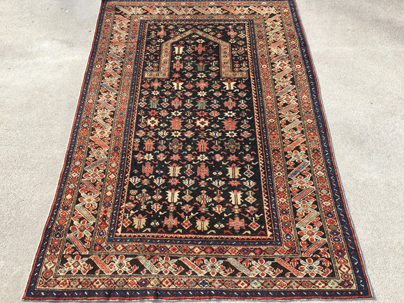 "New Turkish Hand-Knotted Antique Recreation of Caucasian Prayer Rug.  6'3""x 4'4"""