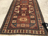 "1900's Antique Russian Federation Kazak. 4'9""x 8'"