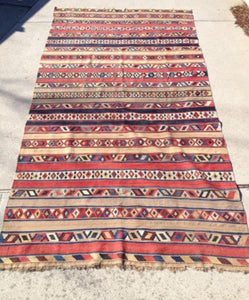 "Antique Persian Kilim From the 19th Century      10'2""x 5'3"""