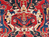 "New Azerbaijan Hand-Knotted Antique Recreation of A 19th Century Karabagh Dragon Carpet.  6'8""x 9'7"""