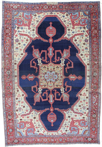 "1880's Antique Persian Bakhshayish  12'6""x 18'3"""