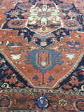 "1890's Antique OverSized Hand Knotted Persian Serapi Oriental Rug  12'2""x 18'2"""