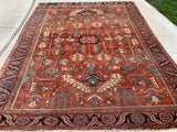 "Antique Persian Gorevan Serapi Heriz Hand Knotted Oriental Rug 9'x 11'5"" SOLD"