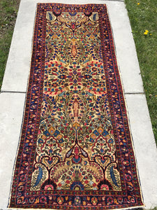 "1920's Persian Sarouk Runner Gorgeous 2'5""x 6'     SOLD"