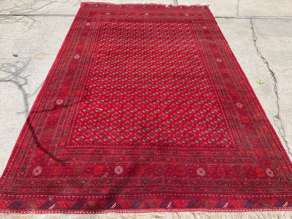 "Hand-Knotted Oriental Rug From Afghanistan Bokara Design 6'4""x 9'10"""