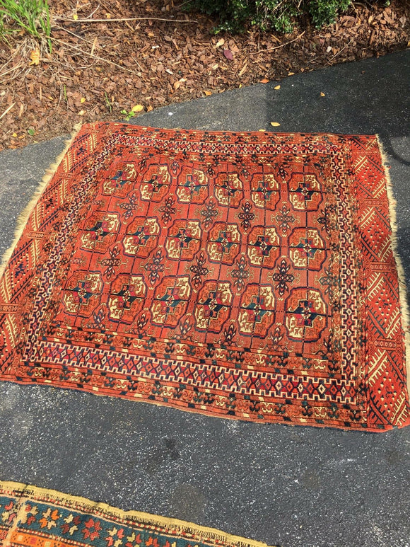 Antique Turkoman Oriental Rug     SOLD