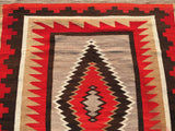 "Antique Navajo Rug Large Size 4'4""x 8'1""  SOLD"