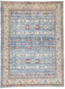 New Pakistani Hand-Knotted Antique Recreation of 19th Century Persian Tabriz.  10'x 13'7""