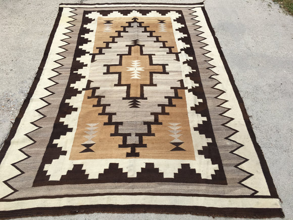 "Antique Navajo Rug.   5'10""x 8'6""  SOLD"