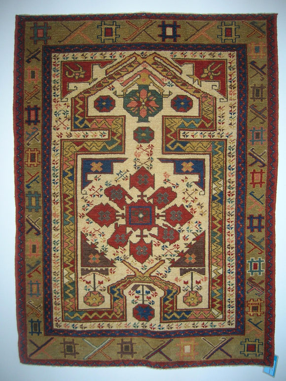 New Hand-woven Turkish Antique Reproduction Tribal Rug    3'1