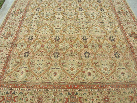 New Pakistan Hand-woven Antique Reproduction of 19th century Persian Tabriz carpet     SOLD     8'1