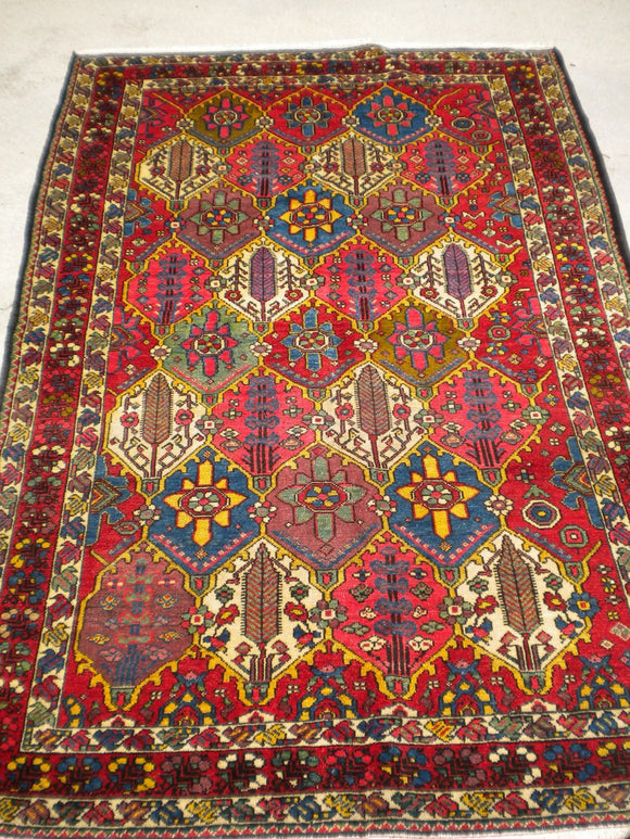 Antique Persian Bakhtiari From The 1920's     4'4