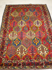 "Antique Persian Bakhtiari From The 1920's     4'4""x 6'5"""
