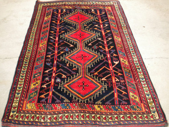 Semi-Antique Luri Tribal Rug From The 1930's
