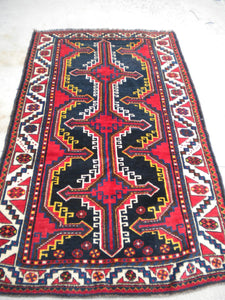 Semi-Antique Persian Luri Tribal Rug