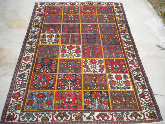 Antique Persian Bakhtiari from the 1920's.       4'6