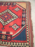 "Antique Persian Luri Kilim From The 1920's.  5'10""x 12'6"""
