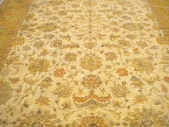 "New Pakistan Hand-woven Antique Reproduction of a 19th Century Persian Tabriz       10'2""x 13'6"""