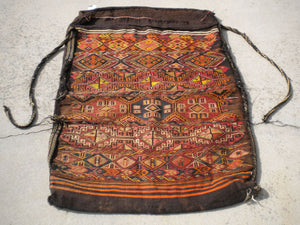 Semi-Antique Turkish Grain Bag Rug From The 1940's