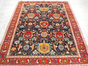 New Turkish Hand-woven Antique Reproduction of 19th century Persian Rug