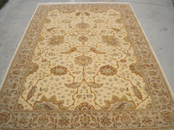 New Pakistan Hand-woven Antique Reproduction of a 19th Century Persian rug   6'2