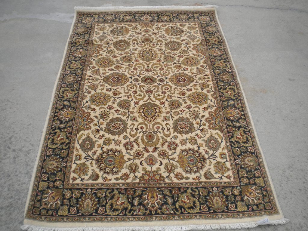 New Pakistan Hand-woven Antique Reproduction of a 19th Century Persian Rug    4'x 6'