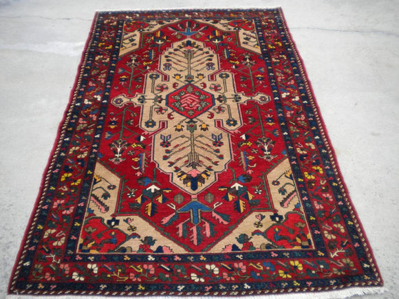 Semi-Antique Persian Bakhtiari Oriental Rug  4'6