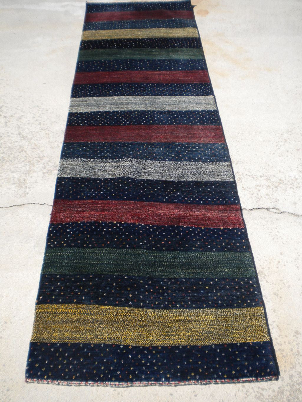 New Persian Gabbeh Runner Rug