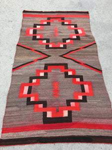 "1900's Antique Navajo Transitional Blanket  3'10""x 6'10""   SOLD"
