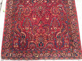 "Antique Persian Sarouk Oriental Rug   3'11""x 6'3"""