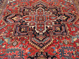 "Old Persian Hand-Knotted Gorevan Heriz Oriental Carpet  9'x 11'7""       SOLD"