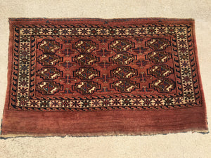 "Antique Turkoman Chuval 2'2""x 3'8"""