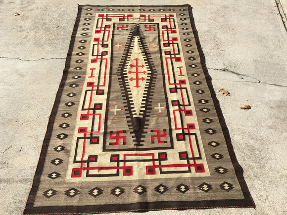 Antique Regional Navajo Rug     4'2