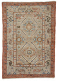 "New Turkish Hand-Knotted Antique Recreation of a 19th Century Persian Heriz Village Rug     3'1""x 4'4"""