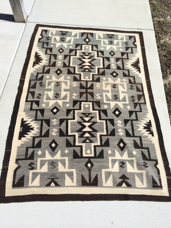 Vintage Navajo Rug With Unique Design High Quality              *SOLD!