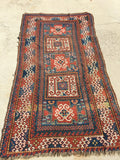 "Late 1800's Antique Caucasian Tribal Rug       3'9""x 7'5""  Sold"