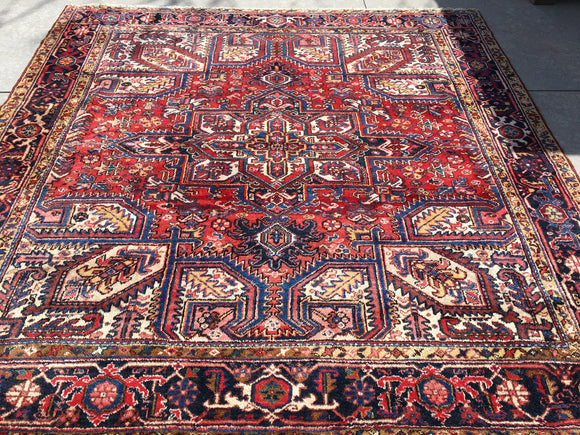 Vintage Persian Hand-Knotted Heriz  8'7
