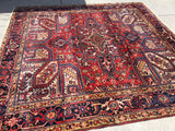 "Vintage Persian Hand-Knotted Heriz  8'7""x 8'11""  SOLD"