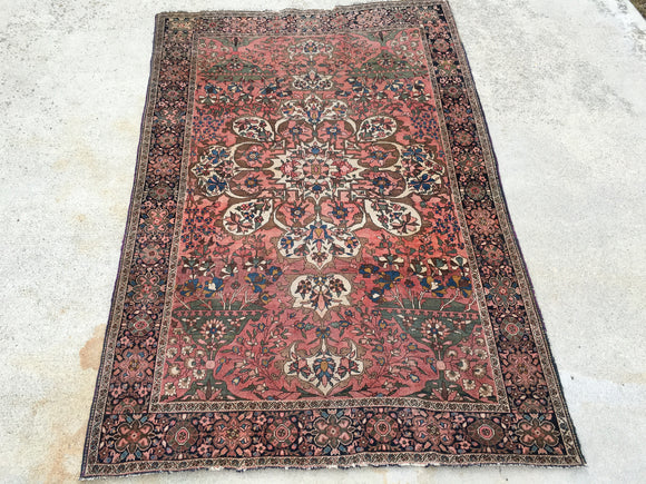 Late 1800's Antique Persian Ferahan Carpet Rug!     4'x 6'2