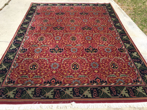 Like New India Hand-Knotted Antique Recreation Of William Morris Arts And Crafts      7'8
