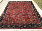 "Like New India Hand-Knotted Antique Recreation Of William Morris Arts And Crafts      7'8""x 10'2"""