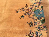 "Vintage Art Deco Chinese Oriental Carpet   9'x 11'4""   SOLD"
