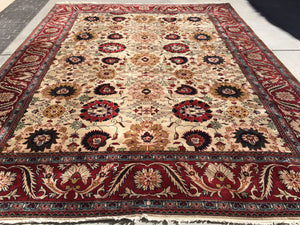 "New India Hand-Knotted Antique Recreation of Persian 19th Century Mahal  10'5""x 13'6"""
