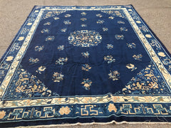 "1890's Antique Hand-Knotted Peking Chinese Carpet  8'10""x 11'3""   SOLD"
