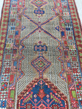 Antique Hand-Knotted Persian Serab Camel Hair Runner    SOLD