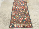 "Antique Moghan Caucasian Oriental Rug  3'3""x 7'2""  SOLD"