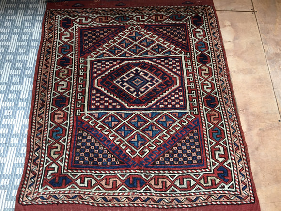 Antique Turkish Tribal Anatolian Rug. 3'2