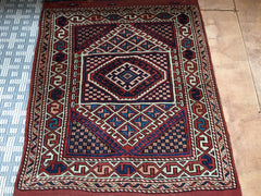 "Antique Turkish Tribal Anatolian Rug. 3'2""x 4'  SOLD"