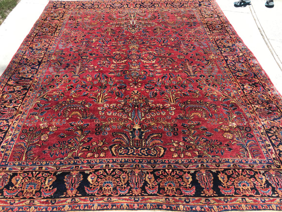 Antique Persian Sarouk Oriental Rug  8'9